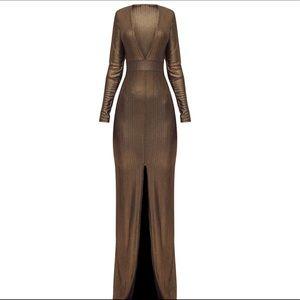 PrettyLittleThing bronze dress! Brand New!
